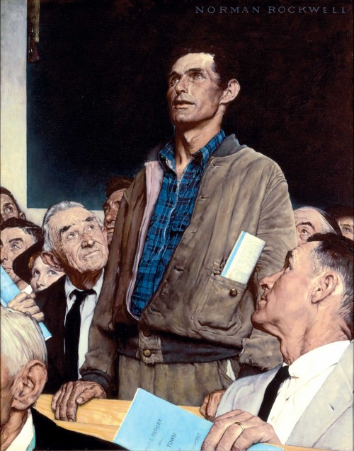 """Freedom of Speech"", 1943, Norman Rockwell"