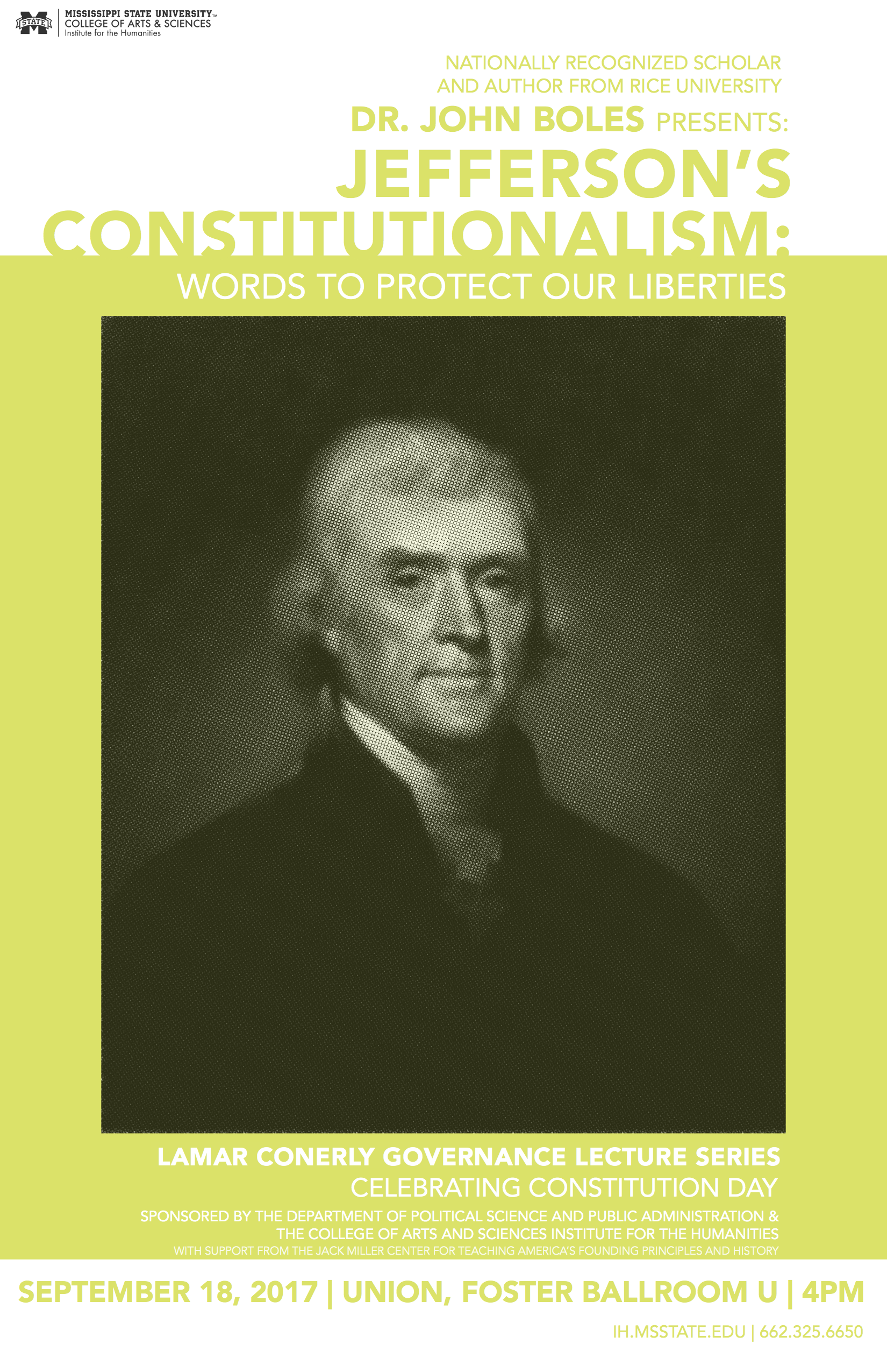 Jefferson Constitution Day Event Poster