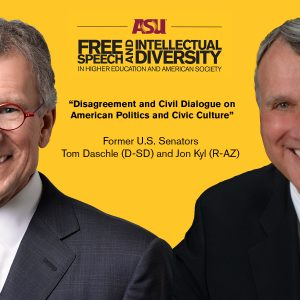 Tom Daschle and Jon Kyl Event Poster