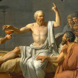 Socrates at his deathbed