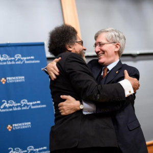 Robert George and Cornel West hugging