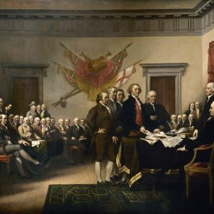 Painting of Declaration signing