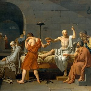 "Jacque Louis David ""Death of Socrates"""
