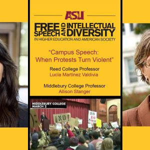 ASU Campus Speech event flyer