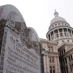 Austin capitol building and 10 commandments