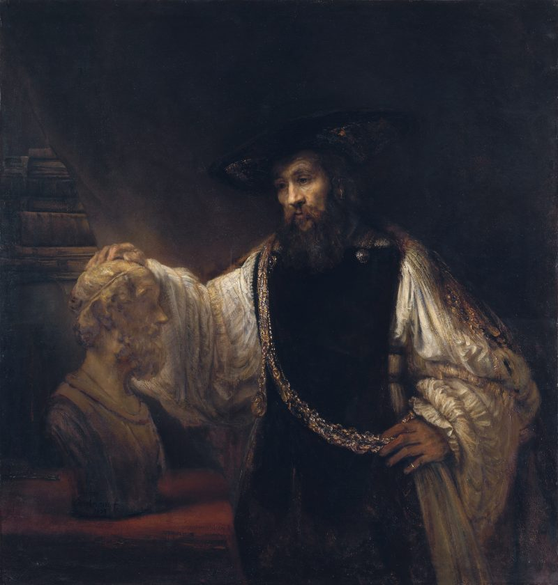 Rembrandt's painting of Aristotle with Bust of Homer