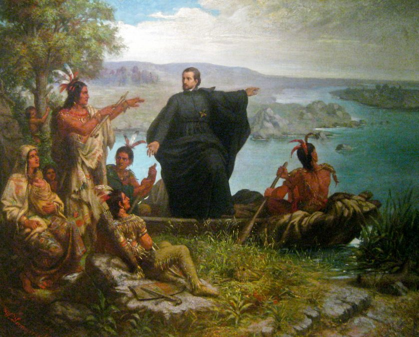 Pere Marquette missionary painting