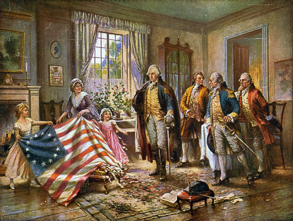American flag, founding fathers