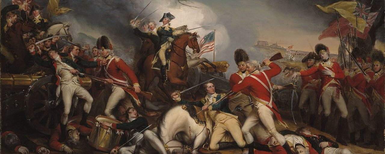 Battle of Princeton painting by John Trumbull