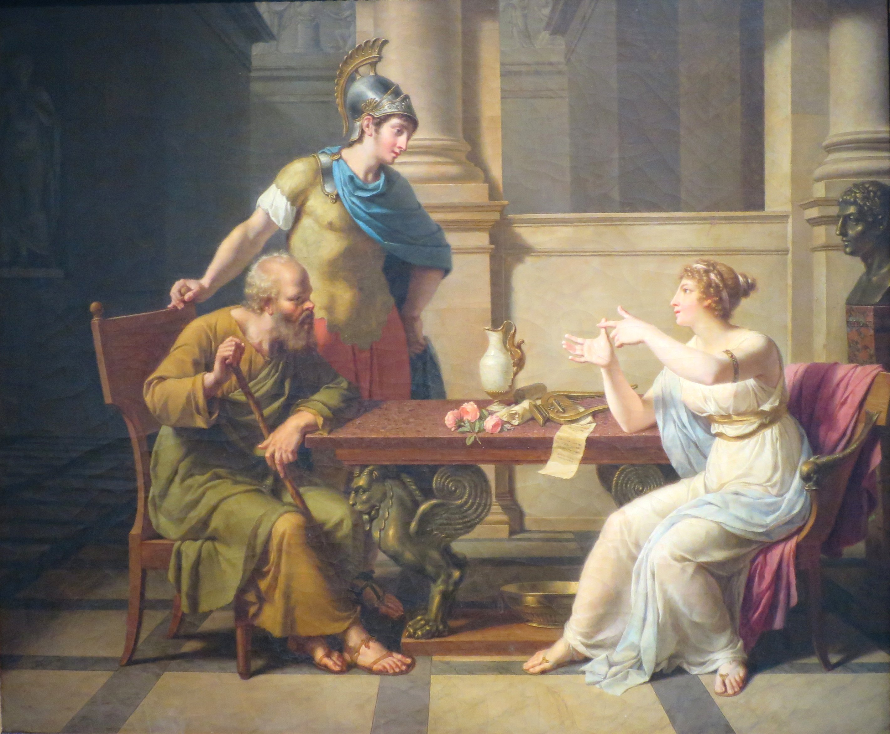 Debate between Socrates and Aspasia