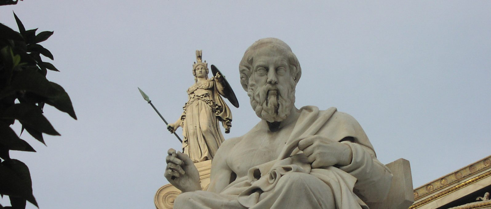 Athena looking over Plato