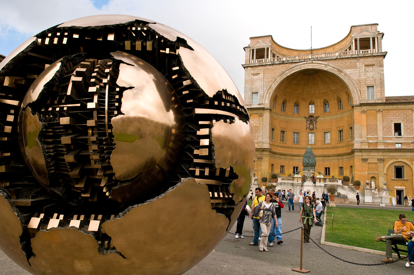 Pomodoro Sphere at the Vatican