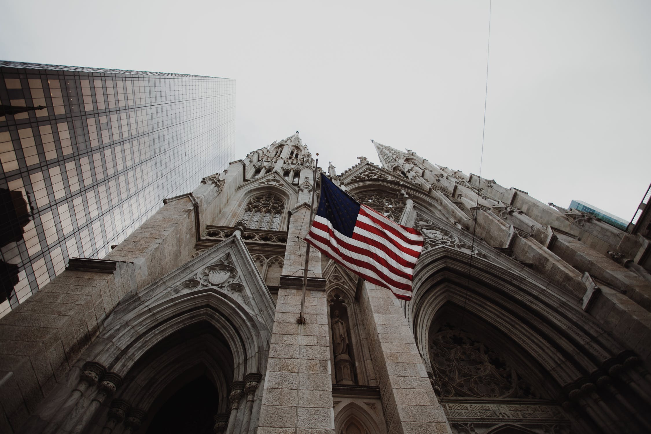 Church with American flag
