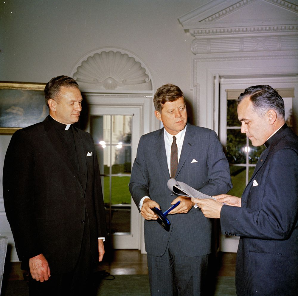 Hesburgh and Kennedy